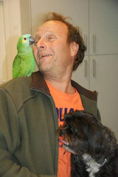 Hubert Geurten met zijn nieuwe vriend!